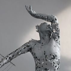 Yuichi Ikehata - Fragment of LTM, memory, body sculpture Real Bodies, Black Heart, Magazine Art, Metal Art, Human Body, Sculpture Art, Sculpting, Illustration Art, Surreal Art