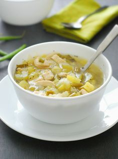 Making this tonight!!---> YUM--->Chicken Soup - this low carb soup is tasty, hearty and comforting without all the guilt @Andres - The Low Carb Diet