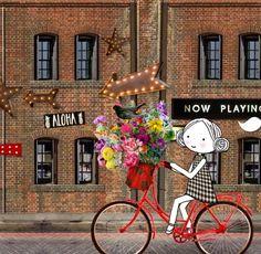 Annelinde Tempelman / Op de fiets in de stad