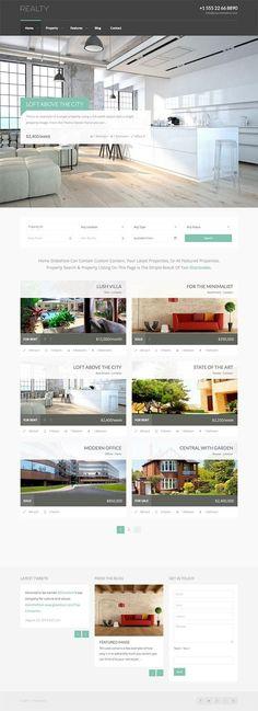 Realty Responsive Real Estate WordPress Theme - WPExplorer Analisamos os 150 Melhores Templates WordPress e colocamos tudo neste E-Book dividido por 15 categorias e nichos de mercado. Download GRATUITO em http://www.estrategiadigital.pt/150-melhores-templates-wordpress/