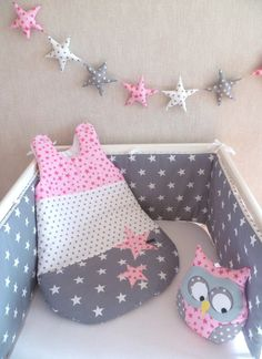 Baby Cot Bumper, Baby Cribs, Baby Sheets, Baby Bedding Sets, Baby Sewing Projects, Sewing For Kids, Diy Bebe, Hobby Kits, Baby Couture