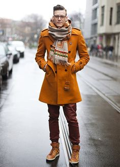 this jacket + scarf. #menswear #outerwear