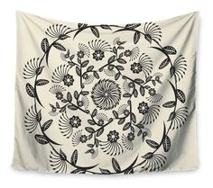 Features:  -Decorative Mandala collection.  -Machine wash, gentle cycle, line dry or tumble dry low to no heat.  -Made in the USA.  Product Type: -Tapestry and Wall Hanging.  Subject: -Floral and bota