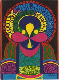 early '70s concert poster