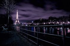 long shot of the beautiful eiffel tower