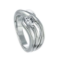 A diamond ring set in gold. It is set with One round brilliant I SI diamond. Diamond Engagement Rings, Solitaire Diamond, Diamond Jewelry, White Gold, Wedding Rings, Jewels, Diamond Jewellery, Jewelery, Wedding Ring