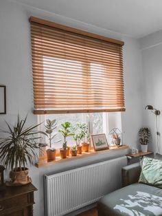Kitchen Room Design, Home Room Design, Bed Design, House Design, Window Shadow, Bedroom Blinds, Minimalist Room, Cute Room Decor, Wood Blinds