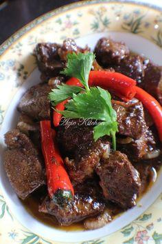 Hati Masak Kicap Untuk Lauk Penganti Easy Recipes, Easy Meals, Malaysian Food, High Protein, Pot Roast, Steak, Good Food, Beef, Dishes