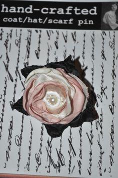 pink white ivory lace rose hair grip clip slide updo flower wedding dress pin