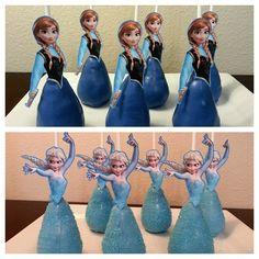 Disney Frozen Elsa Anna Cupcake Toppers Cake Pops by DezignsbyDZZ, $7.99