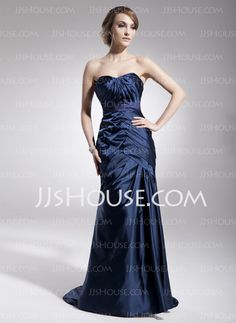 Evening Dresses - $200.00 - Sheath Sweetheart Sweep Train Charmeuse Evening Dresses With Ruffle Sash (017014565) http://jjshouse.com/Sheath-Sweetheart-Sweep-Train-Charmeuse-Evening-Dresses-With-Ruffle-Sash-017014565-g14565