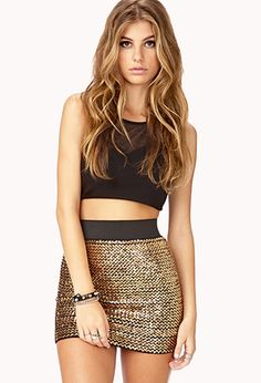 Dazzling Doll Mini Skirt | FOREVER21    -get me this and I will love you forever