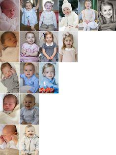 Little princes and princess of Sweden on their birth and birthdays: - Princess Estelle (2012, 2013, 2014, 2015, 2016, 2017) - Princess Leonore (2014, 2015, 2016, 2017) - Prince Nicolas (2015, 2016,...