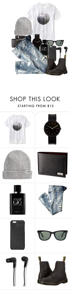 """""""man style.."""" by daraipetra19 ❤ liked on Polyvore featuring Old Navy, Uniform Wares, Neff, Giorgio Armani, Michael Kors, Ray-Ban, B&O Play, Dr. Martens, Neiman Marcus and mens"""