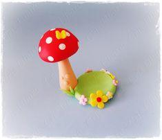 Cris Ubara - Biscuit para festas: Porta docinho cogumelo