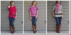 The Monday Blog: Same Pattern, Three Styles