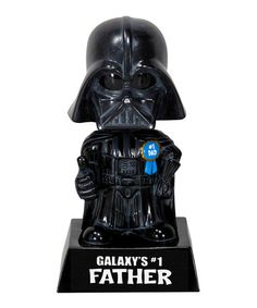 Take a look at this 'Galaxy's #1 Father' Darth Vader Wacky Wisecrack Bobblehead by Star Wars Collection on @zulily today!