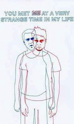 This would be a neat tattoo. Fight Club sketch.