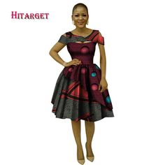 autumn 2018 dress women elegant Bazin african dresses for women Dashiki African Print Splice Dresses Traditional Clothes WY408    - AliExpress African Dresses For Women, African Attire, African Women, Red Peplum Dresses, Style Africain, Short Sleeve Dresses, Dresses With Sleeves, Traditional Dresses, African Fashion