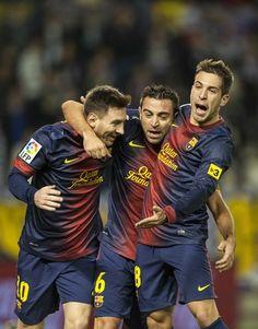 Lionel Messi - Xavi Hernández - Jordi Alba