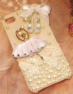 Ballet girl bling iphone case, so femine