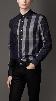 Tailored Fit Exploded Check Shirt | Burberry
