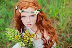 Red Hair, Blue eyes and freckles oh what a beautiful girl.     * by Роман ♥ Лидия Аврам, via 500px