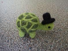 Needle felted miniature turtle by FeltedByRikke on Etsy