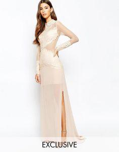 e4b572afa5 Love Triangle Sneak A Peek Lace Maxi Dress at asos.com