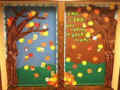 October bulletin board October Bulletin Boards, Classroom Bulletin Boards, Classroom Walls, Classroom Ideas, Birthday Bulletin, Birthday Board, Sunday School, School Days, School Stuff
