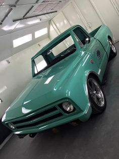Sea Foam Green Chevy Truck - Painted by Mike Lavallee at Killer Paint Airbrush… 67 Chevy Truck, Silverado Truck, C10 Trucks, Classic Chevy Trucks, Chevy C10, Hot Rod Trucks, Chevy Pickups, Chevrolet Trucks, Pickup Trucks
