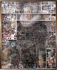using hundreds of collected specimens -- photographic prints, insect pins, gelatin capsules, glass vials and sequins are just a few -- american artist michael mapes collages intricately detailed reinterpretations of renowned dutch portraits. Rembrandt, Street Art Graffiti, Photomontage, Mixed Media Collage, Collage Art, Art Collages, Instalation Art, Wow Art, Art Graphique