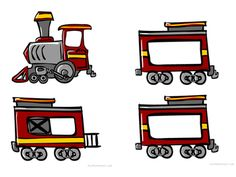 Printable name train illustration for use in the classroom. Each child's name can be written on the train cars. Print out the number of cars that correspond to your child count, and add as needed. Montessori Classroom, Montessori Activities, Alphabet Activities, Classroom Ideas, Childhood Education, Kids Education, Zug Illustration, Name Train, Free Teaching Resources