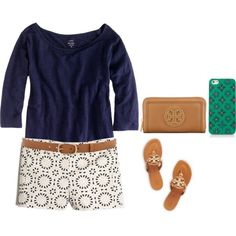 First Day of Summer by banana918 on Polyvore featuring J.Crew, Tory Burch and rag & bone