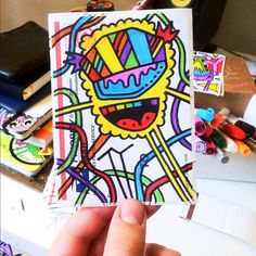 KING Of COLOR - a masterpiece painted by NYC artist, TY - #cloudzbyTY - #StreetArt #StreetArtStickers #StickerPorn #StickerSwap #StickerDesign #StickerArt