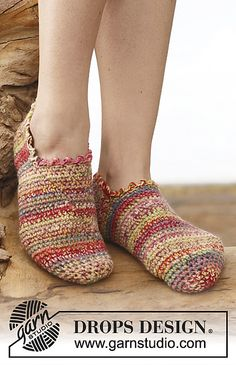 Ravelry: 148-28 Alina - Slippers in 2 strands Fabel pattern by DROPS design