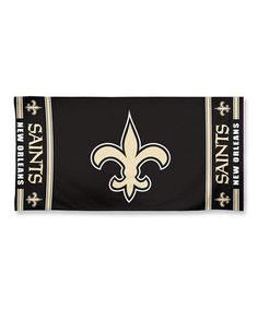 This New Orleans Saints Beach Towel is perfect! #zulilyfinds