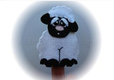 Felt Lamb Finger Puppet Sewing Pattern. INSTANT DOWNLOAD by EbonyShae #lambfingerpuppet #fingerpuppet #fingerpuppetpattern #pattern #sewingpattern #fingerpuppettutorial #sheeptoy