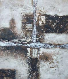 Tableau abstrait on pinterest - Peinture tableau gris ...