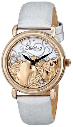 Stuhrling Original Women's 709.04 Vogue Eros Analog Display Swiss Quartz White Watch ** Awesome product. Click the image