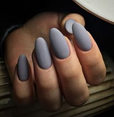 44 Stylish Oval Matte Nail Art Designs – Nails, You can collect images you discovered organize them, add your own ideas to your collections and share with other people. Nail Art Designs, Nail Designs Spring, Acrylic Nail Designs, Nails Design, Grey Matte Nails, Matte Nail Art, Pink Nails, Art Nails, Matte Red