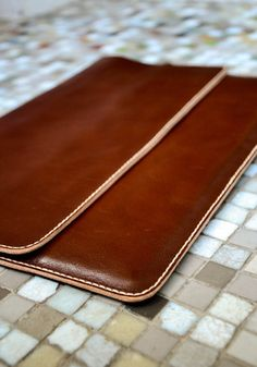"""11'' /12''/ 13"""" /15'' Macbook Sleeve,Genuine Leather Macbook Case, Laptop case, Handmade papers case,Office Bag,Clutch, 100% hand stitched."""