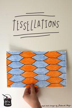 teach kids how to make their own MC Escher inspired tessellations