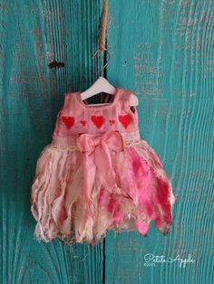 "Blythe doll outfit *Baby fairy 2"" OOAK vintage embroidered dress"