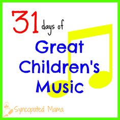 Syncopated Mama: 31 Days of Great Children's Music: Here Come the ABCs