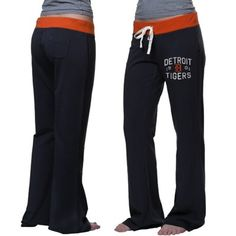 '47 Brand Detroit Tigers Women's Powerstretch Pants - Navy Blue
