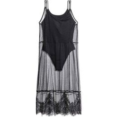 Mesh dress with a body ($17) ❤ liked on Polyvore featuring dresses, lace trim dress, mesh jersey, jersey dress, knee high dresses and knee length dresses