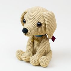 Lucky Puppy amigurumi pattern by Amigurumi Today This cute lucky puppy amigurumi is just 15 cm tall. It's a perfect gift for dog lovers. The difficulty range of the Lucky Puppy Amigurumi Pattern is medium. Cactus Amigurumi, Mini Amigurumi, Amigurumi Animals, Amigurumi Doll, Crochet Animals, Crochet Dog Patterns, Amigurumi Patterns, Amigurumi Tutorial, Baby Pug Dog