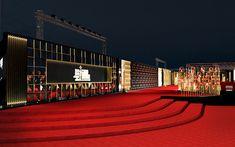 Render Design, International Film Festival, Art Director, Cairo, Landscape Design, Opera House, 3 D, Red Carpet, Stage