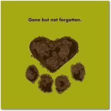 Gone but not forgotten.